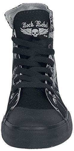 Rock Rebel by EMP Walk The Line Sneakers Black Black sale best prices low shipping fee online mRsUPU