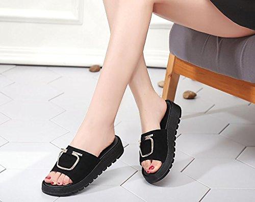 37 B Piatta Moda Donna Pantalone Dimensioni Antiscivolo Da Pantofola Pantofole A Fafz Alla Piatti colore Piatte Sandali qXnpwOxZ