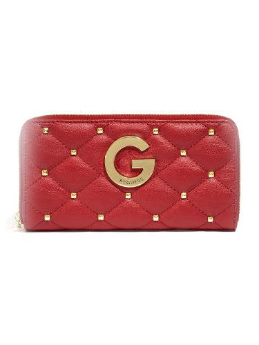 G by GUESS Women's Ellie Zip-Around Wallet, RED