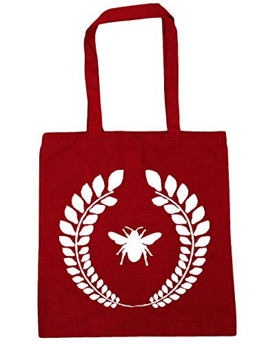 HippoWarehouse Bumble Bee corona Tote Compras Bolsa de playa 42cm x38cm, 10litros Classic Red