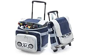 Picnic Plus Cooladio Radio/MP3 Speaker Trolley Cooler, Navy