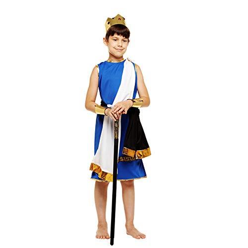 TngHui Child Zeus Costume Cosplay Cleopatra Masquerade (4-12) Year Child]()