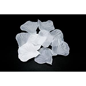 All In One 1000pcs Artificial Silk Rose Petals Flower for Wedding Party Decoration Bridal Shower Favor Centerpieces (White-1000pcs) 1
