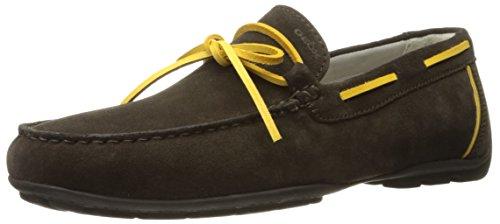 Geox Mens M Monet 35 Boat Shoe Chocolate/Yellow