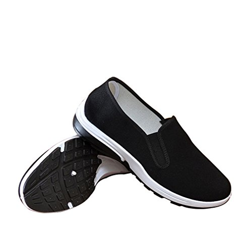 Aircee Old Beijing Chinese Traditional Rubber Sole Cloth Men Youth Kung Fu Tai Chi Shoes Black (CHN 42 260mm (US Men 8/Women 8.5), 3-Black)