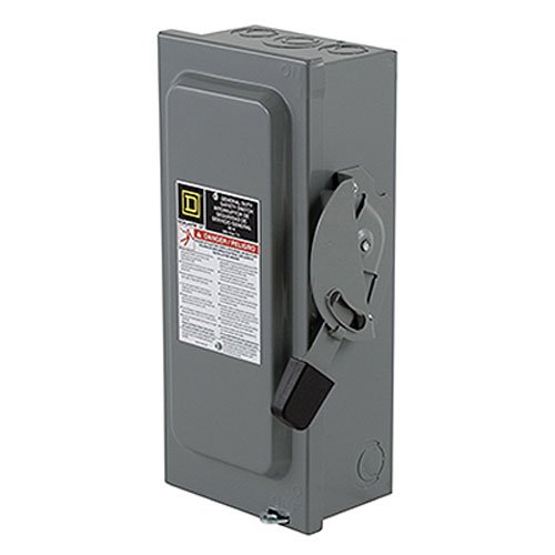 Square D by Schneider Electric D222NCP 60-Amp 240-Volt Two-Pole Indoor General Duty Fusible Safety Switch with Neutral by Square D by Schneider Electric