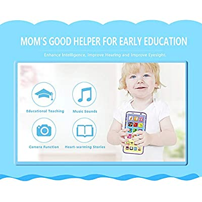 E-SHOW TREE Kids Smart Charging Phone Toy Music Sound Light Mobile Early Educational Toys (A): Toys & Games