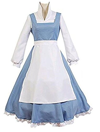 Housemaid Princess Costume For Women Adult Halloween Party Prom Deluxe Dress (S)
