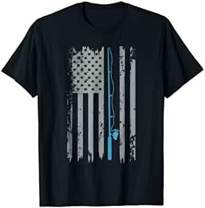 American Flag Fishing Shirt Vintage Fishing Tshirt