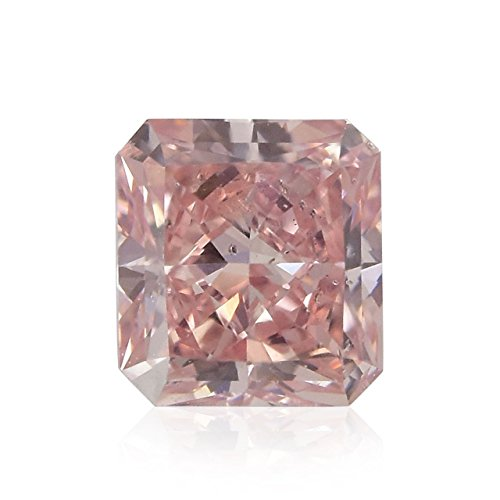 0.23Cts Fancy Orangy Pink Loose Diamond Natural Color Radiant Cut GIA (I1 Radiant Loose Diamonds)