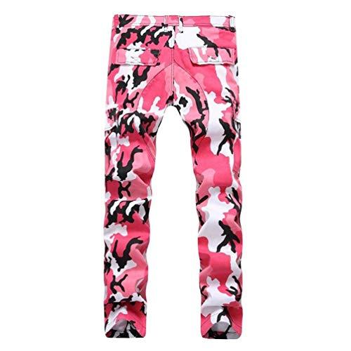 Dritti Alta Mimetici Slim Uomo Di Elasticizzati Pantaloni Rosa Comode Fashion Dritta A Qualità Fit Hx Da Abiti Taglie Gamba Cargo BvA7ax