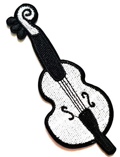 Nipitshop Patches Cute Violin Fiddle Music Instrument Cartoon Kid Patch Symbol Jacket T-Shirt Patch Sew Iron on Embroidered Sign Badge Costume