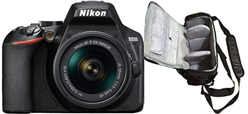 KamKorda Camera Shoulder Bag + D3500 Digital SLR/DSLR Camera / 3500D DSLR + AF-P 18-55mm VR Lens/Electronic Bundle Pack…