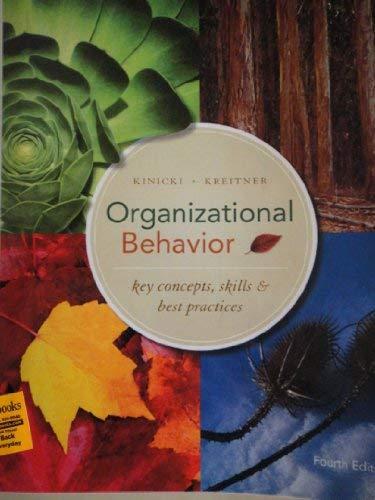 Organizational Behaviour, Key Concept, Skills& Best Practices W/fundamentals of Human Resource Management (OSU Custom Bundle)