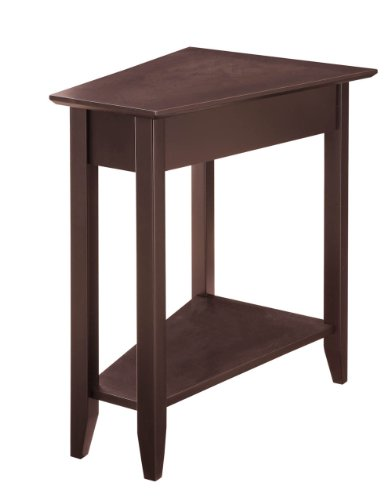Convenience Concepts American Heritage Modern Wedge End Table, Espresso (Modern Round Side Table)