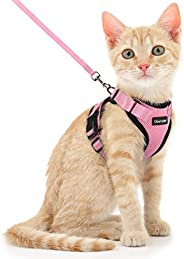 Dooradar Cat Harness and Leash Escape Proof for Walking, Adjustable Vest Harness for Small Medium Cats, Soft B