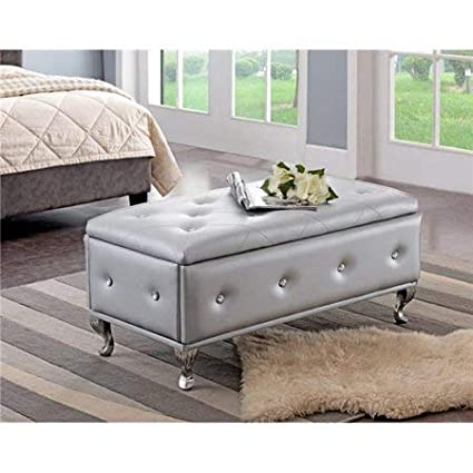 Phenomenal Amazon Com Homek End Of Bed Storage Bench Bedroom Benches Pabps2019 Chair Design Images Pabps2019Com