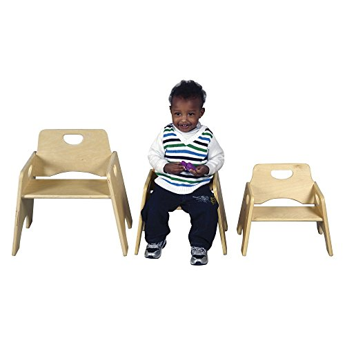 Hardwood Toddler Seat (ECR4KIDS Stacking Wooden Toddler Seat-2 Pack)