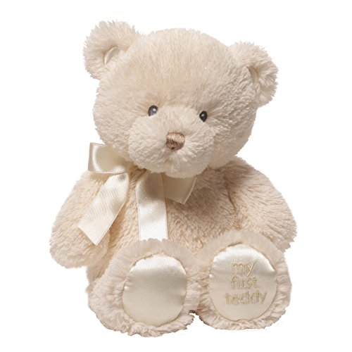 Cuddly Pink Teddy Bear - Baby GUND My First Teddy Bear Stuffed Animal Plush, Cream, 10