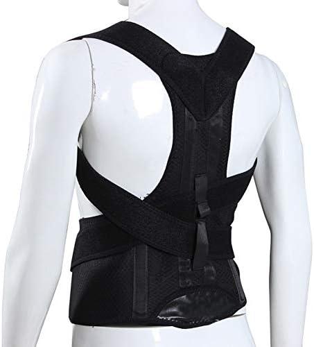 女性と男性のための姿勢矯正器 - 疼痛緩和のための背中の調節可能な装具と肩のサポートトレーナーと悪い不快感問題を改善する (Size : L)