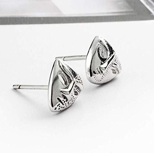 Helen de Lete Prom Mask S925 Sterling Silver Stud Earrings