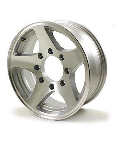 (16x6 Series04 Aluminum Star HD Trailer Wheel 8 on 6.5 Bolt 3,960 lb Capacity)