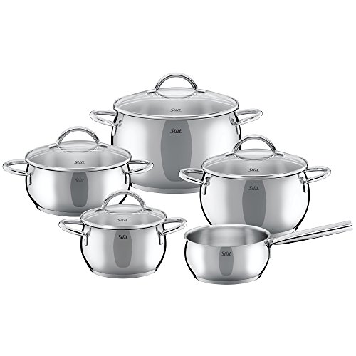 Silit Nobile 9 piece cookware set silver