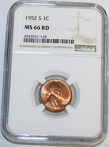 1952 S Lincoln Cent MS66 NGC RD