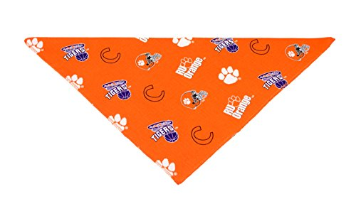 Precious Paw Prints Boutique Clemson University Tigers Dog Bandana (Large: 14-20 inches)