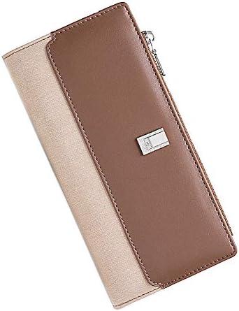 Kukoo Women Leather Trifold Short Wallet Leaf Pattern Button Clutch Bag Credit Card Holder