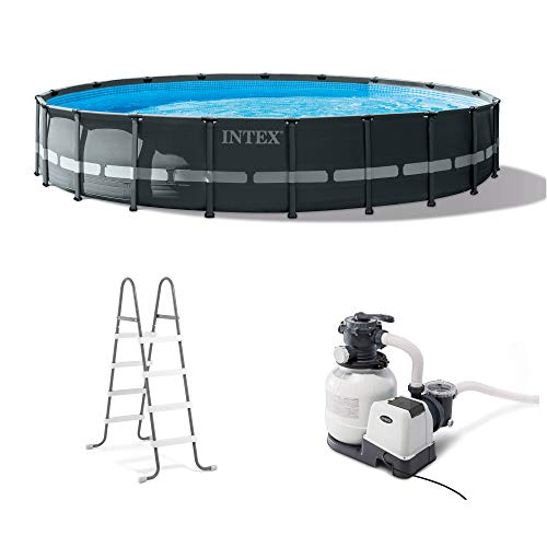 Intex 26333EH Ultra XTR Set Above Ground Pool, Gray (Intex Ultra Frame)