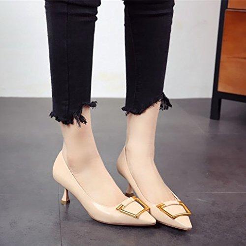 bocca sexy profonda scarpe lady brevetto opera con del mondo singola FLYRCX sottile di personalità poco moda La della tacchi b primavera di e calzatura punta l'estate una 141Oq7HUnx