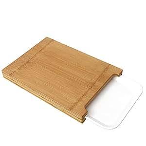 Tabla de cortar con bandejas de goteo, tabla de cortar de bambú con plato de servir Tablas de cocina Tablas de cortar de bambú con bandeja, tablero de madera de la cocina, tabla de talla de madera