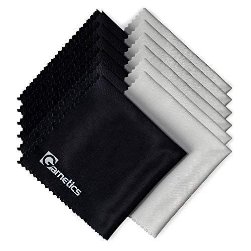 Garnetics Microfiber Cleaning Cloth (12 PACK) - to clean Glasses, Lens, Cell Phone, Tablet, Laptop, TV, LED, LCD screens - Premium Lintfree fiber - Computer Screen and Eyeglass - Fused Jewelry Dvd Glass