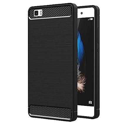 VCOMP - Carcasa de Silicona Flexible para Huawei p8lite ale-l21/p8 Lite ale-l04 (Carbono)