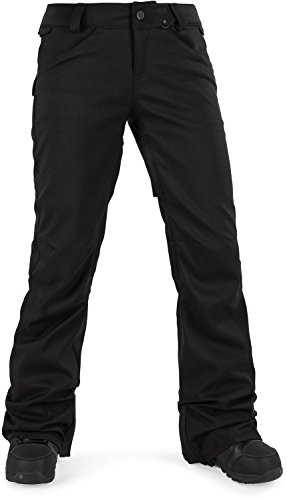 Volcom Junior's Species Stretch 2 Layer Shell Snow Pant, Black, (Vent Shell Snowboard Pants)