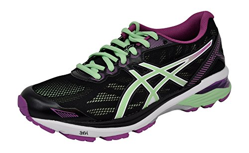 ASICS Womens GT-1000 5 Running Shoe, Black/Green/Orchid, 10 B(M) US by ASICS