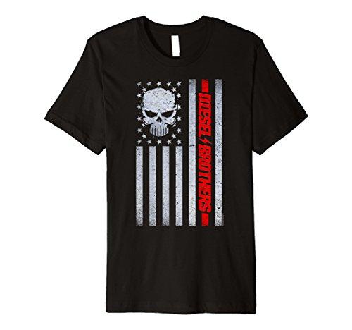 Diesel Brothers Grungy Flag America Skull Premium ()