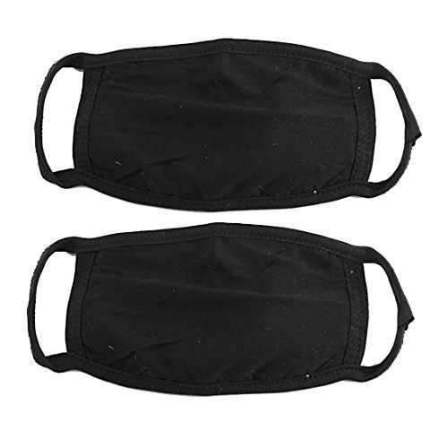 2-Pcs-Cotton-Blend-Anti-Dust-Face-Mouth-Mask-Black-for-Man-Woman