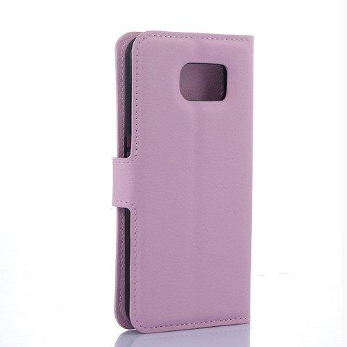 caja del teléfono móvil de la cubierta Caso de Negocio Samsung Galaxy S6 Edge / SM-G925F - SOPORTE DEL LIBRO tirón de la caja de rosa claro