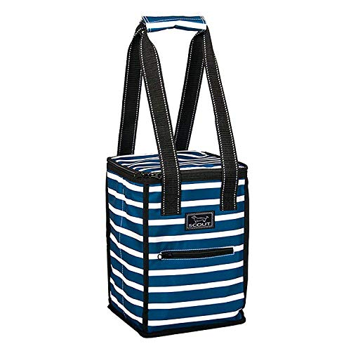 SCOUT Pleasure Chest 4 Bottle Wine Cooler Bag, Water Resistant Insulated Soft Cooler Tote with Zipper Closure (Multiple Patterns Available)