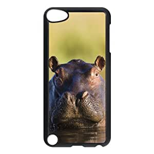 S-ADFG Customized Print Hippo Pattern Hard Case for iPod Touch 5