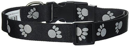 Petmate Reflective Paw Collar, Black