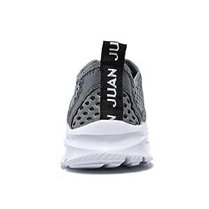 JUAN Men's Fitness Shoes Walking Sneaker Workout Shoes Mesh Running Shoes Athletic Lightweight Casual Sports Shoes (Men,46EU/12US, Grey)