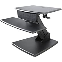 Kantek Desktop Sit to Stand Workstation, Black (STS810)