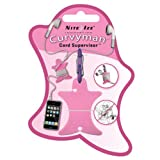Nite Ize Curvyman Cord Supervisor Earbud Organizer, Headphone Cord Wrap - Compact, Durable, and Lightweight, Pink