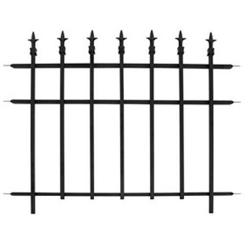 Black Metal Fence Amazon Com