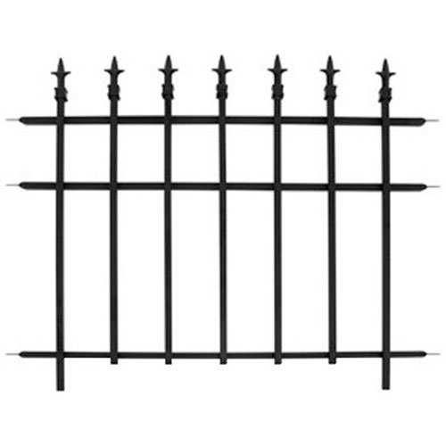 "Panacea Products 87103 30""X37"" Metal Fence, Black from Panacea Products"