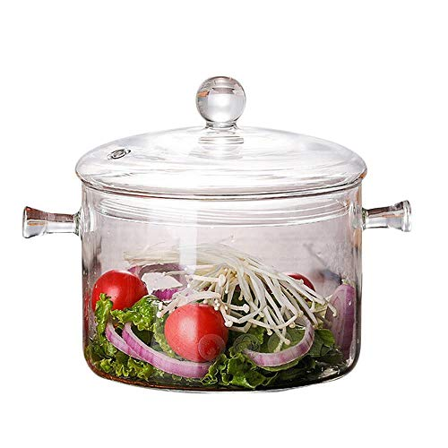 Steamer Basket Assembly (Steam Cooker - 1300ml Creative Soup Pot Transparent Glass Cooker Salad Instant Noodle Bowl Handmade Cooking - Soup Aroma Rack Mini Pillow Stainless Glass Color Switch Steam Steel Steamer Fuse Bow)