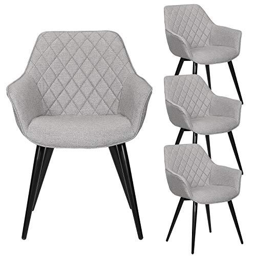 eSituro DC65 - Juego de 4 sillas esquineras de Cocina, Color ...
